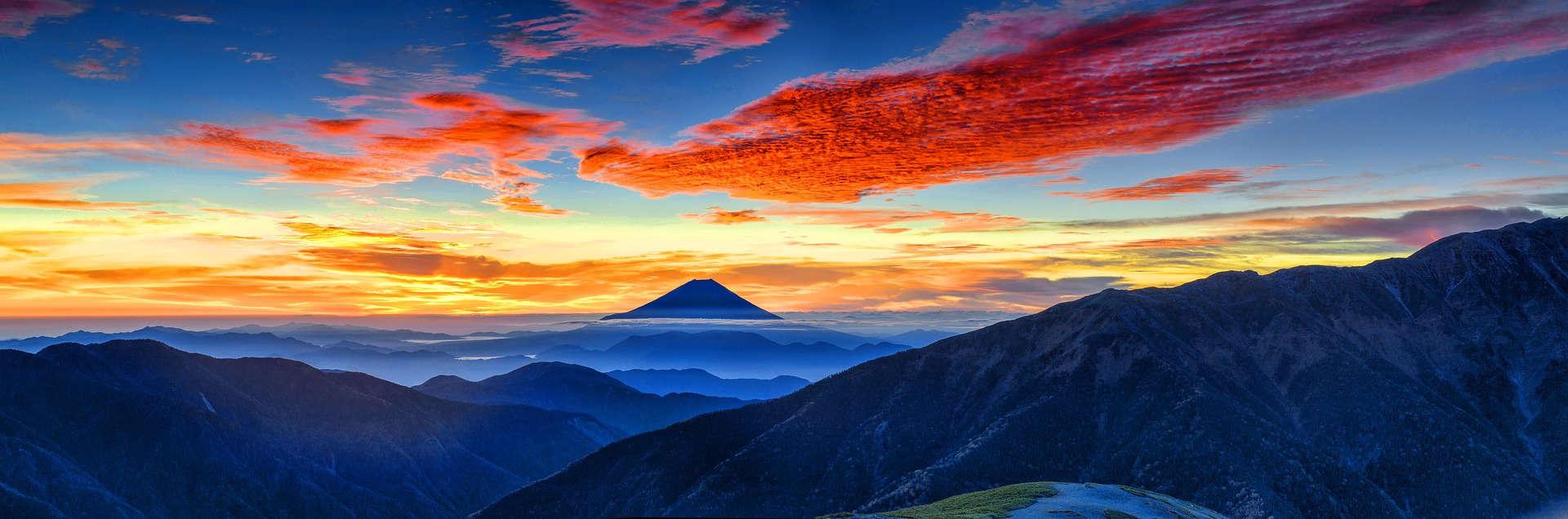 Fuji Berg Panorama Stress Burnout Überforderung