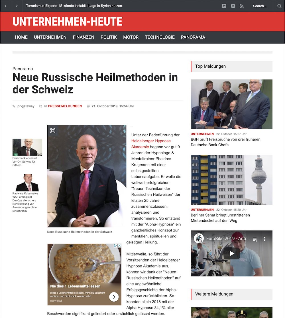 Russische Heilmethoden Presse Basel Schweiz