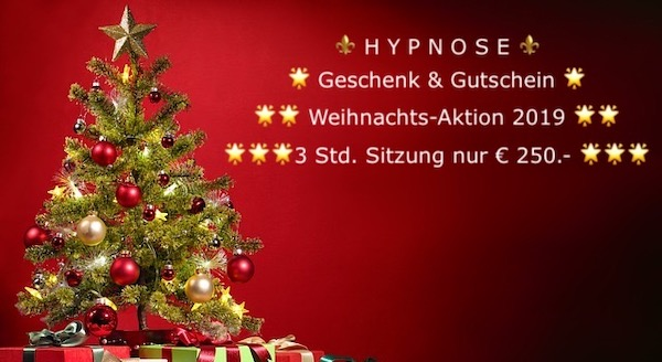 Hypnose Weihnachtsaktion 2019