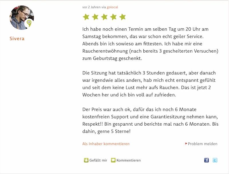 Referenz Hypnose Mannheim Heidelberg Sivera