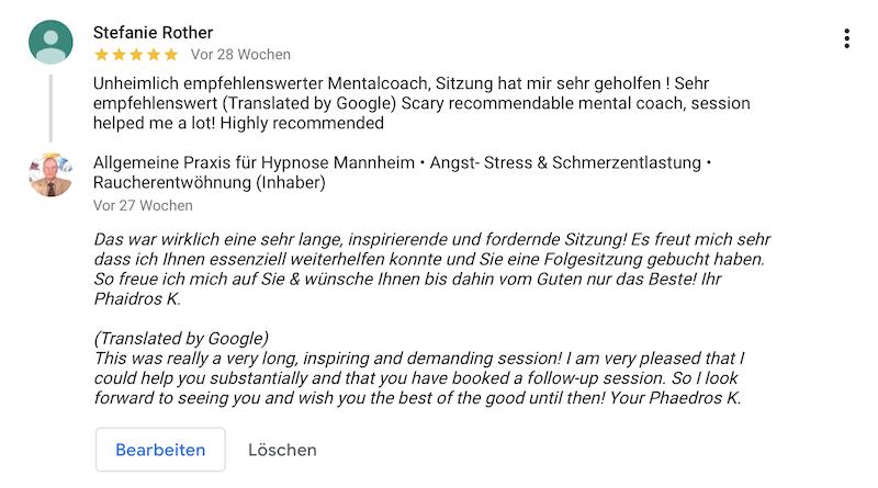 Referenz 06 Hypnose Mannheim Heidelberg Rother